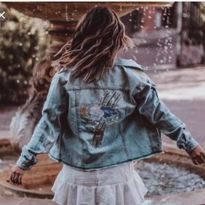Sanctuary Milkyway Walker Denim & Patches Jacket